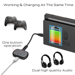 Image 4 - VIKEFON Bluetooth 5.0 Audio Transmitter Adapter APTX Low Latency for Nintendo Switch PS4 TV PC,USB/Type C Wireless transmitter