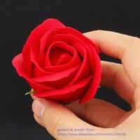 (Rot orange gelb grün blau violett pink braun) 50 teile/paket articifial blumen 5 cm rose heads