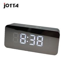 Hd mirror alarm clock multi-function digital mute LED cosmetic