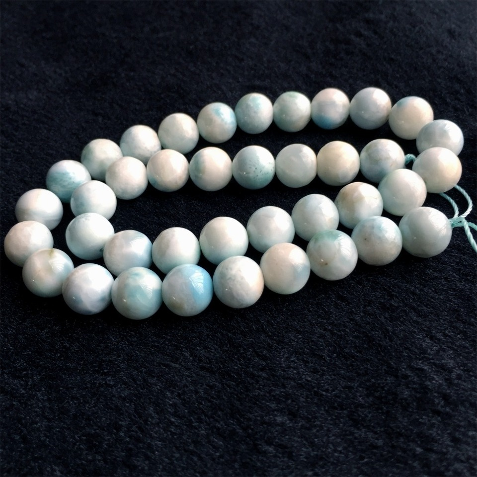 9MM Sky Blue Aquamarine Beads Bracelet Brazil Grade AA Genuine Natural Round Gemstone 7.5 112009h-3465
