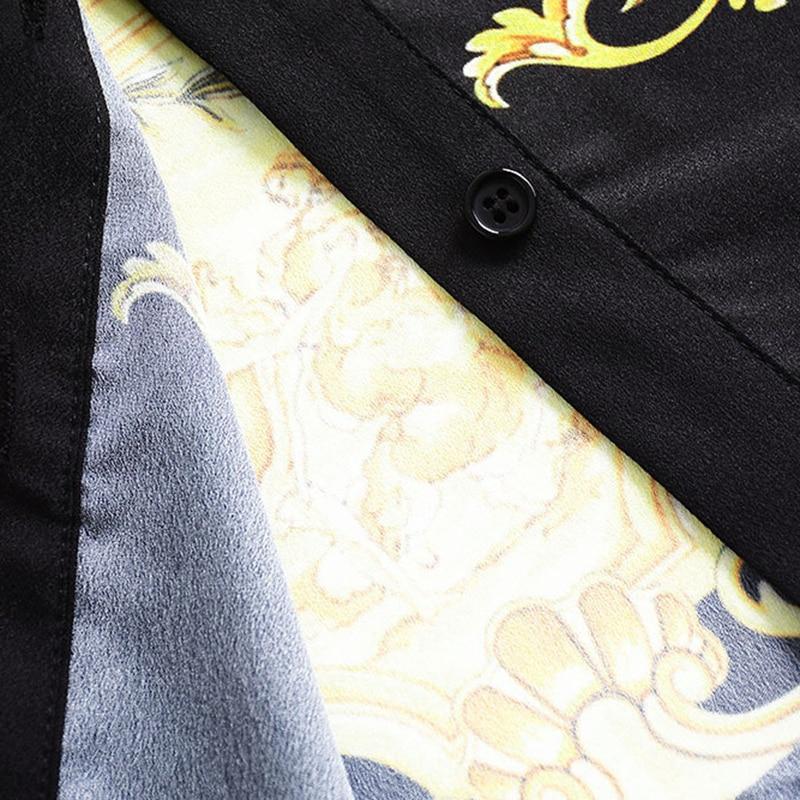 Mini Automne Plissée 2018 Jupe Mode Manches Top Pièces Marque As À Chemises Deux Longues Ensemble Blouses Or Femmes Photo Costume Nouvelle Impression qXfgH