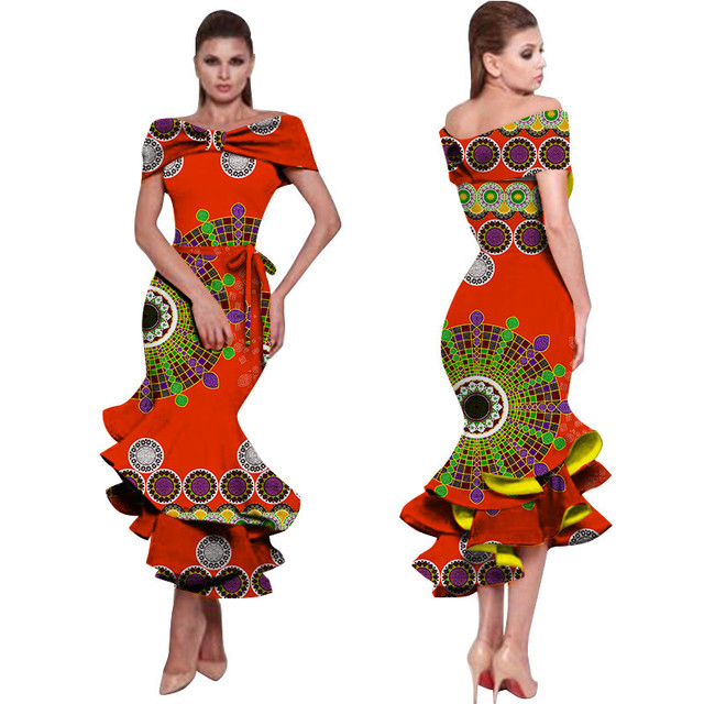 9eba52ef18fe7 African Dresses for Women Bazin Riche Style Fashion Party Dress Dashiki  Sexy Plus Size African Fashion