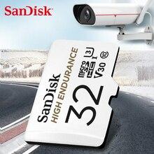 Cartão alto do microsd da monitoração 32gb 64gb do vídeo da resistência do cartão de memória de sandisk cartão sdhc/sdxc class10 40 mb/s tf para a monitoração video