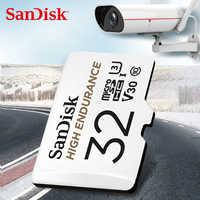 Karta pamięci SanDisk wysokiej wytrzymałości monitoringu wideo 32GB 64GB MicroSD karty SDHC/SDXC Class10 40 mb/s karty TF do nadzoru wideo