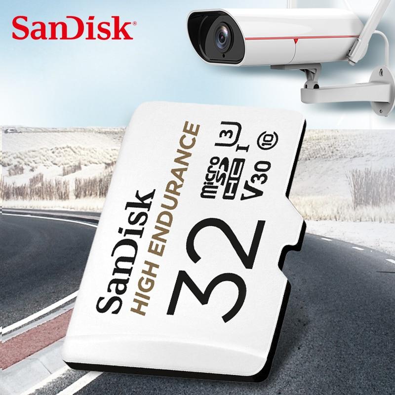 Двойной Флеш-накопитель SanDisk Memory Card с высокой износостойкостью видео показвыаться на 32GB 64GB MicroSD карты SDHC/SDXC Class10 40 МБ/с. карты памяти для видео...