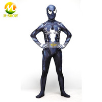 Venom Spiderman Costumes Custom Spiderman Lycra jumpsuit High elasticity Cosplay Movie Zentai Spidey Suit for Adults/Children