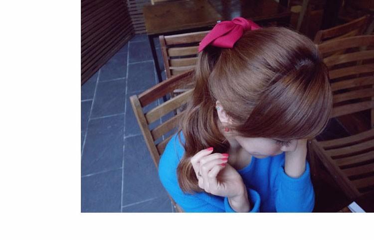 HTB1BLcCOFXXXXcZaXXXq6xXFXXXp Pretty Solid Cloth Big Bow Hair Clip For Women - 7 Colors