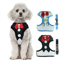 Mesh Small Dog Harness Nylon Breathable Puppy Vest Pet Walking Harnesses Leash Set For Chihuahua Dogs Cat