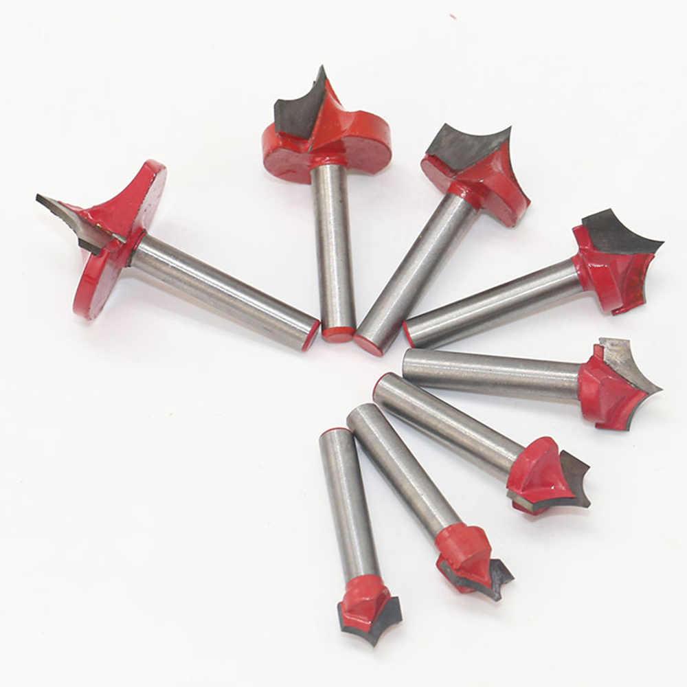 VGroove قاطعة المطحنة أداة راوتر بت 6 مقبض ذو حدين قطع تصميم التصنيع باستخدام الحاسب الآلي النقش نهاية الخشب مستديرة عرقوب تلميح الفم مطحنة