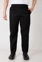 Novo chef calças calças de cozinha calças calças calças de cintura ajustável com elástico calças de serviço alimentar calças cor preta 2531 #