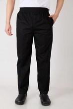 2018 New men's chef pants Kitchen Trouser bottoms ajustable waist with elastic band pants food service pants black color 2531#