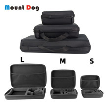 MountDog Portable Carry Storage Case For GoPro Hero 7 6 5  Action Camera Accessories For YI Sjcam Eken Sport Camera Bag action camera accessories s m l size bag for gopro hero 6 5 xiaomi yi 4k portable case camera box for gopro eken h9 sport camera