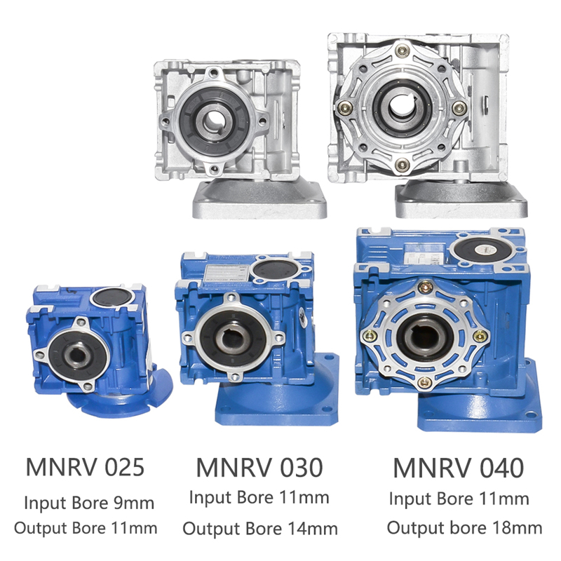 NMRV 025 030 040 Getriebe Minderer Verhältnis 1/5/7,5/10/15/20/25 /30/40/50/60/80/100 hohe Qualität Elektrische Motor Getriebe Hohe Drehmoment