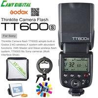 Godox TT600S GN60 HSS 1/8000s Camera Flash Speedlite 2.4G Wireless X System+Godox S Type Bracket+Softbox+Gift Kit For Sony
