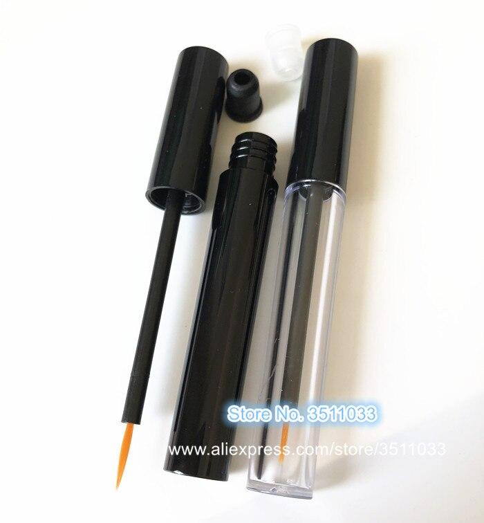 3 มิลลิลิตรล้างหลอดอายไลเนอร์สีดำพลาสติก DIY เครื่องสำอาง Eyelash กาวขวดเครื่องสำอางค์อายไลเนอร์ Growth Liquid Tube 50 ชิ้น-ใน ขวดรีฟิล จาก ความงามและสุขภาพ บน   2