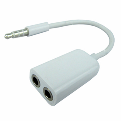New 3.5mm headphone audio cable adapter 1 to 2 plug splitter headset line for mp3  iPhone4 5 5s #8067