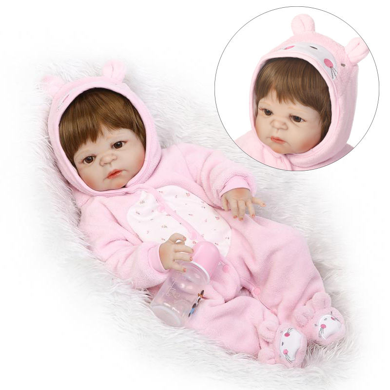 NPK COLLECTION Full body Silicone Reborn baby doll toys lifelike New born babies kids child brithday gift girls brinquedos Toys christmas gifts in europe and america early education full body silicone doll reborn babies brinquedo lifelike rb16 11h10