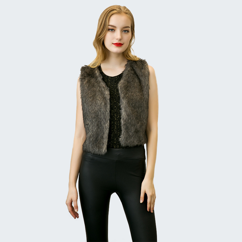 2017 High Grade Frauen Faux Pelz Outwear Weste V-ausschnitt Sleeveless Dünnen Kurzen Gilet Warme Luxus Natürliche Kaninchenfell Weste Q4956 Duftendes (In) Aroma