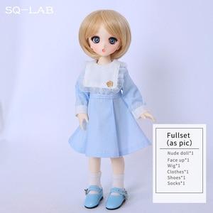 Image 5 - Fullset SQ Lab Chibi Ren 1/6 YoSD Lati Luts 2D LCC Girls Boys High Quality Toys Eyes Shoe Resin Figure BJD SD Doll