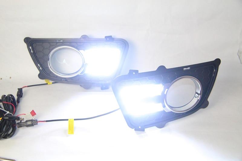 Car Flashing 2Pcs DRL For KIA Sportage 2008 2009 2010 2011 2012 2013 Daytime Running Lights