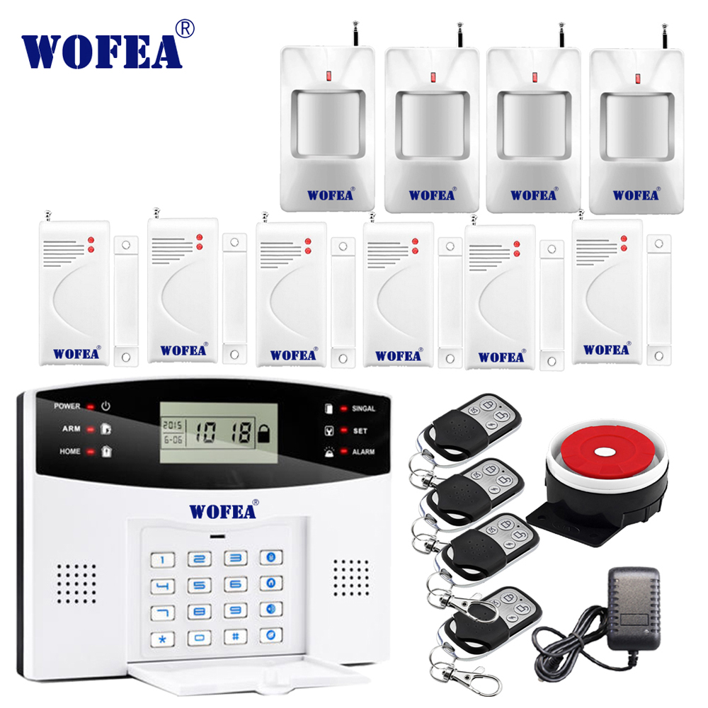 106 Zone LCD GSM alarm system with Voice Prompt two way intercom home security burglarproof
