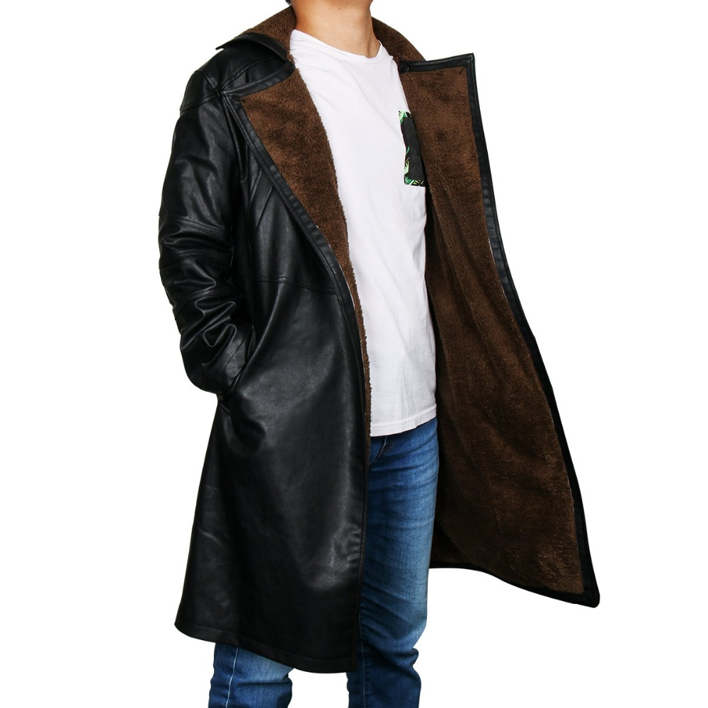 Image 2 - Blade Runner 2049 Officer K Trench Cosplay Costume 2017 Ryan Gosling Jacket Outwear Long PU Leather Coat Halloween Uniform New-in Movie & TV costumes from Novelty & Special Use