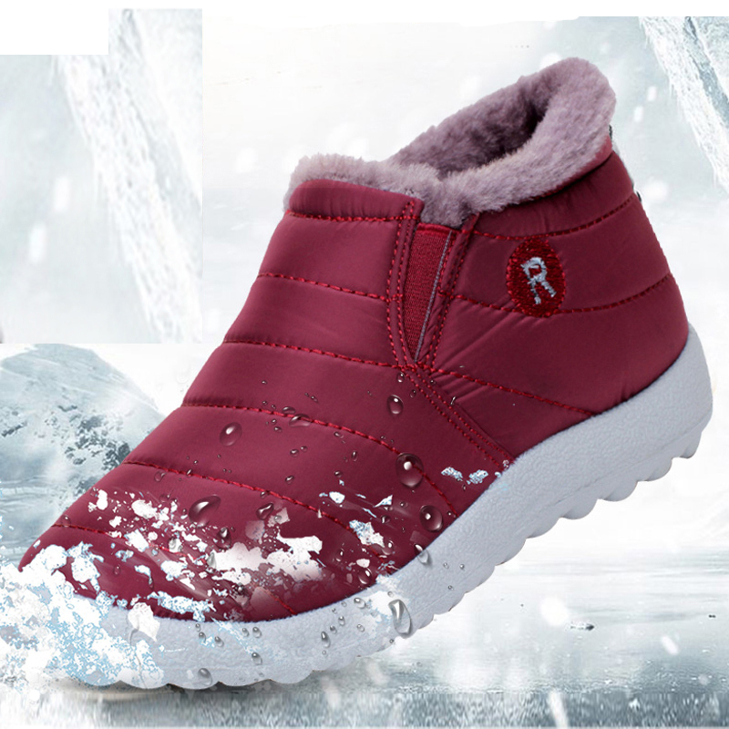 top fashion fantastic savings footwear US $13.54 20% OFF|Women Boots Winter Warm Down Snow Boots For Women Ankle  Boots Waterproof Fashion Winter Plush Fluffy Casual Non Slip Booties -in ...