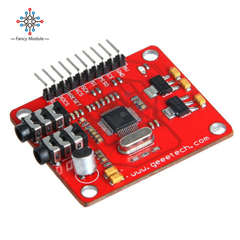 VS1053 VS1053B MP3 Module For Arduino UNO Breakout Board With SD Card Slot VS1053B Ogg Real-time Recording For Arduino UNO стоимость