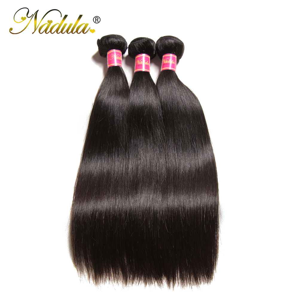 Nadula Hair Indian Straight Hair 3 / 4Bundles Indian Hair Straight - Cabello humano (negro) - foto 2