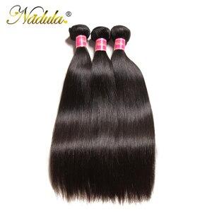 Image 3 - Nadula Hair mechones de cabello lacio indio de 8 30 pulgadas, mechones de cabello humano Remy, máquina de mechones de postizo de doble trama, 3/4 mechones