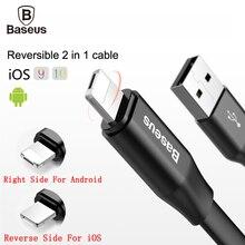 Baseus Обратимым 2 в 1 Usb-кабель Для iPhone & Android Быстро скорость Зарядки Кабель Micro Usb Для iPhone 7 6 Samsung Зарядное Устройство Кабо