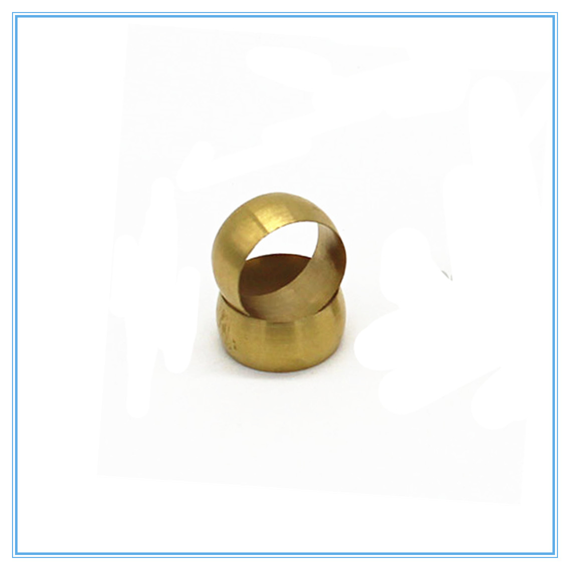 10pc Brass Double Taper Ferrule 10-20mm OD Compression Sleeve Seal Ring Fittings Tube Centralized Lubrication System