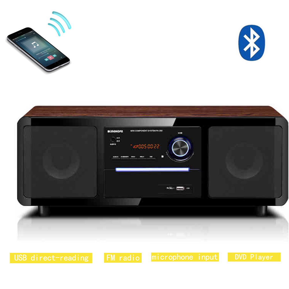 bluetooth music cd player remote control hifi speakers fm. Black Bedroom Furniture Sets. Home Design Ideas