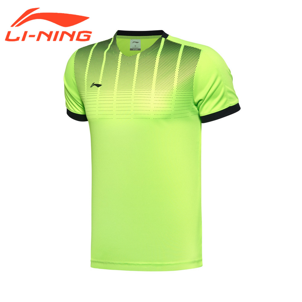 Li-Ning Men's Football Series T-Shirts Running Sports Short Sleeve Tops Tees At Dry Freeze LiNing Jerseys AAYM063