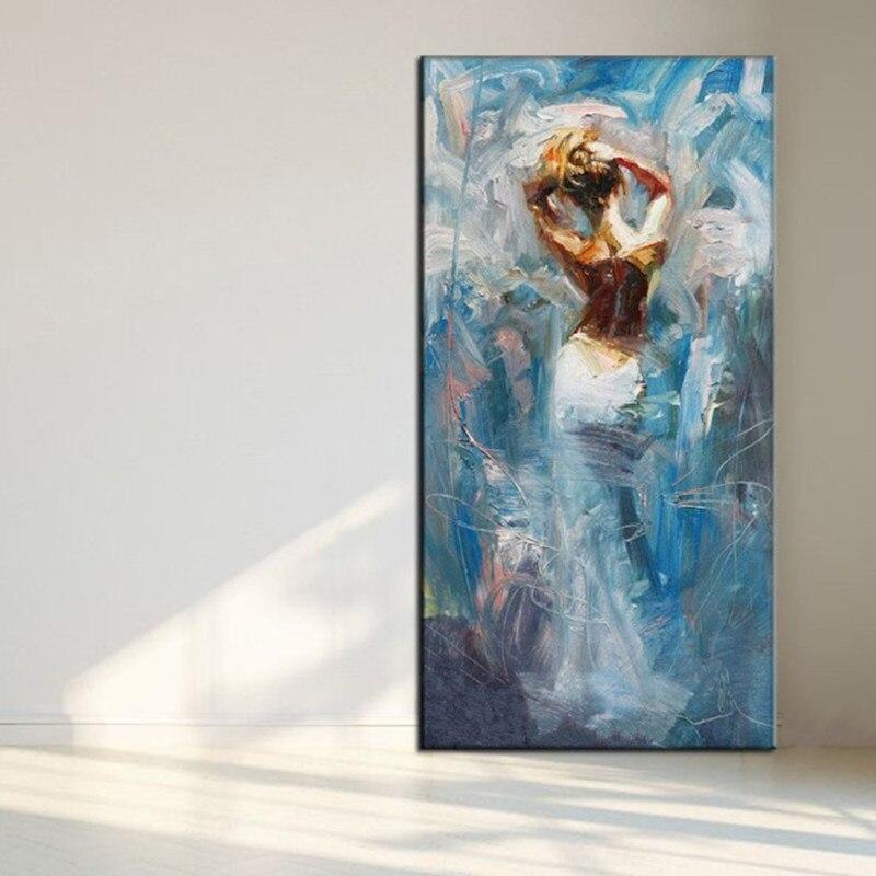 Hand painted Modernism Abstract Hot Nude Girl Pop Art Silk Poster 12x18 24x36