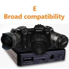 8000mAh LP-E6 LP-E6 Digital Camera Battery External Power For Canon LP-E6 LPE6 Li-ion Battery pack For smartphone Mobile Power