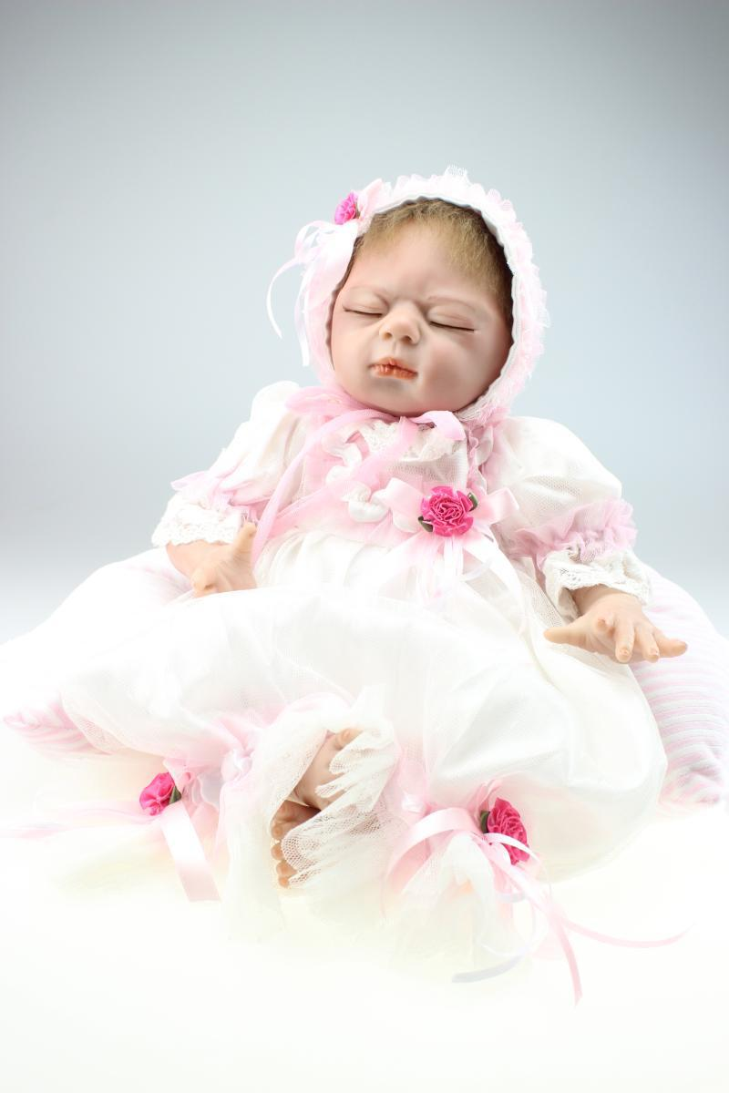 Fashion Silicone reborn baby boy doll toys beauty pink princess cotton body toy for girls kids baby with birthday gifts handmade chinese ancient doll tang beauty princess pingyang 1 6 bjd dolls 12 jointed doll toy for girl christmas gift brinquedo