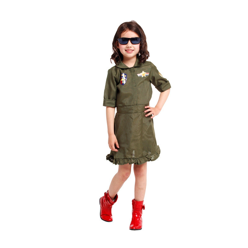 Kids Girls Cosplay Policewoman Halloween pilot Costumes Childrenu0027s day Carnival Holiday Festival parade stage show party dress -in Girls Costumes from ...  sc 1 st  AliExpress.com & Kids Girls Cosplay Policewoman Halloween pilot Costumes Childrenu0027s ...
