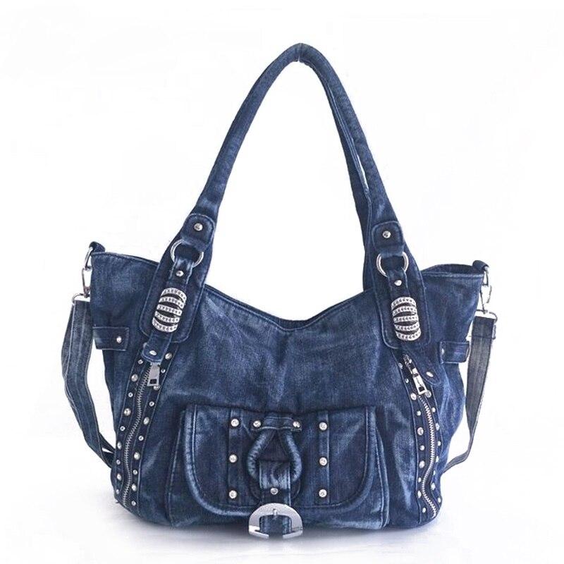 High Quality Denim Women Handbag Casual Large Capacity Hobos Bag Hot Sell Female Jeans Totes Bolsas