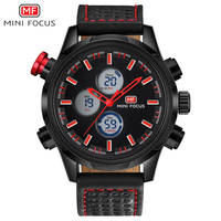 MINIFOCUS G Shock Multifunction Men Watch Army Military Alarm Chrono Clock Double Display Outdoor Sports Waterproof Wristwatch