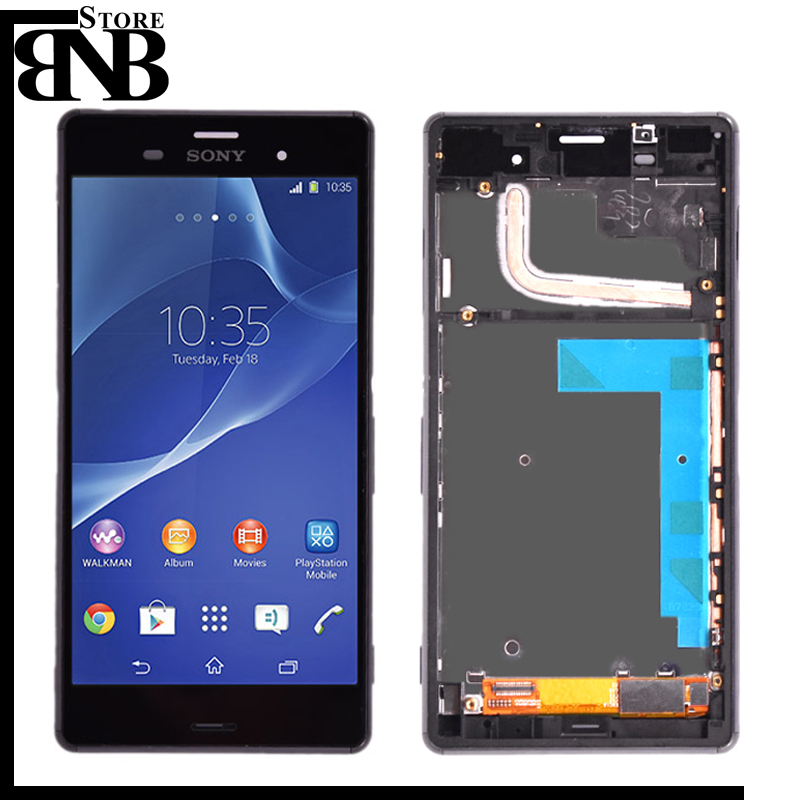 Original For Sony Xperia Z3 D6603 D6653 L55t LCD Display With Touch Screen Digitizer Assembly With Frame 5.2 Inch Lcd