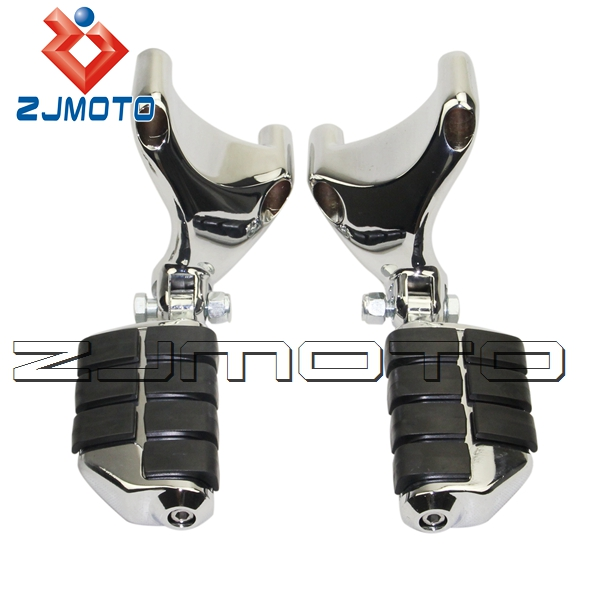 High Quality Aluminum Chrome Rear Passenger Footpegs Foot Pegs For Harley Sportster 1200N <font><b>1200</b></font> Nightster 2007-2013 image