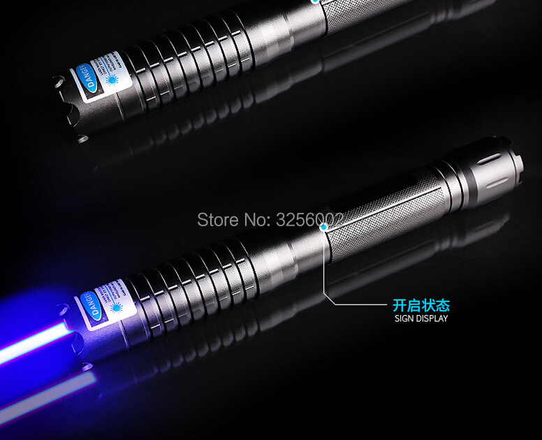 Military Blue Laser Pointers 5000m 450nm LAZER Flashlight Burning Match/dry wood/candle/ ...