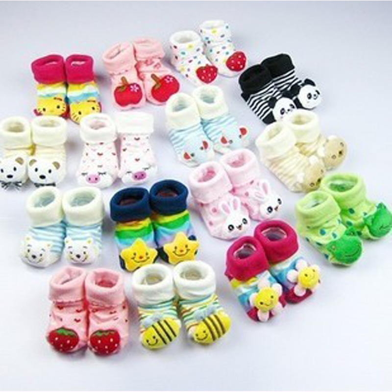2019 New Arrived Thick  Baby Socks Cotton Girls Boys 0-18month Newborn Lovely Unisex Non Slip Shoes Sock 6pair/lot Wholesales