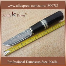 DT066 camping knives damascus steel knife ebony handle fixed blade hunting knife bayonet knife