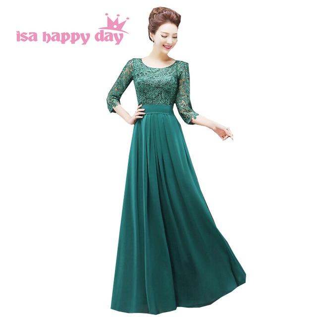 Vestidos de noche verde esmeralda 2019