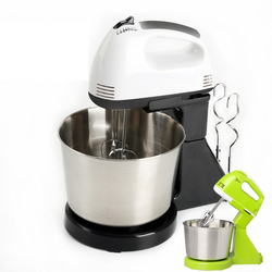 Hookakang elektryczne mieszadło do żywności stół i stojak ciasto mikser do ciasta ręczny trzepaczka do jajek Blender pieczenia biczowanie krem maszyna 7 prędkości w Miksery żywności od AGD na
