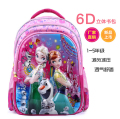 2016 New girls cartoon 6D snow queen schoolbag Kids Princess Elsa Anna Waterproof Printing School Bags dropshipping