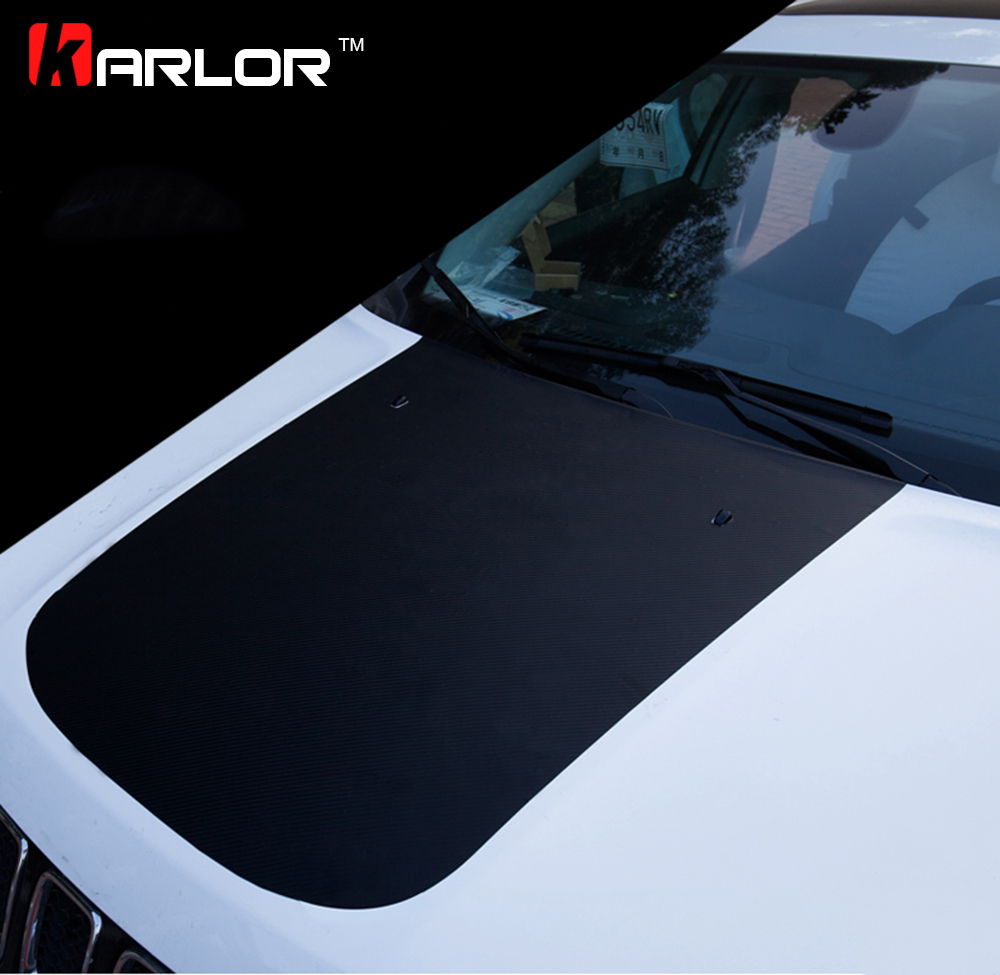 3D Carbon Fiber Film Protection Scratch Hood Bonnet Sticker And Decal Car Styling For Jeep Compass 2015 2016 2017 Accessories epr car styling for nissan skyline r33 gtr type 2 carbon fiber hood bonnet lip