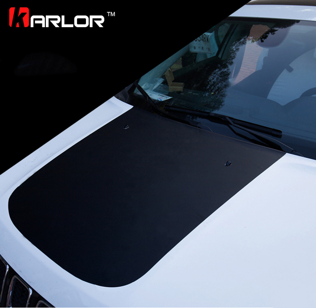 3D Carbon Fiber Film Protection Scratch Hood Bonnet Sticker And Decal Car Styling For Jeep Compass 2015 2016 2017 Accessories